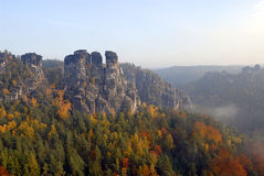 Saxon switzerland Arkivbilder