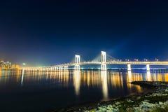 bridge natten Royaltyfri Fotografi