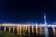 bridge natten Royaltyfria Bilder