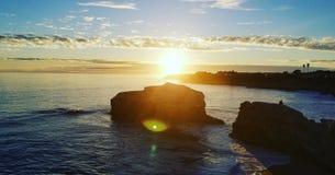 Bridge& natural x27; puesta del sol de s Santa Cruz fotografía de archivo libre de regalías