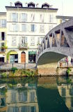 Bridge on Naviglio Grande Royalty Free Stock Photos