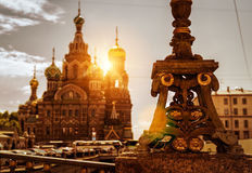 The bridge near the Church of the Savior on Spilled Blood in Sai Royalty Free Stock Image