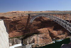 Bridge near the dam on Lake Powell Royalty Free Stock Photos