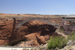 Bridge near the dam on Lake Powell Stock Photography