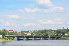 Bridge near Donbass arena in Donetsk. Unkraine Stock Photography