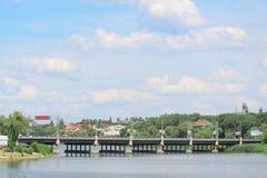 Bridge near Donbass arena in Donetsk Stock Photography