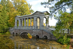 Bridge near Ekaterininsky Dvorets,Pushkin,RF Stock Photo