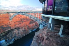 Bridge Near Glen Canyon Dam Stock Photos