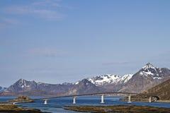 Bridge near Henningsvaer; Stock Images