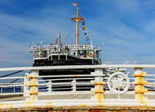 Bridge near Hikawa Maru ship, Yokohama Royalty Free Stock Image