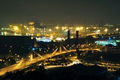 A bridge near Jurong Island industrial estate Royalty Free Stock Images