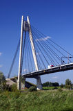 Bridge near Kampen. Dutch bridge across the river IJssel, with a truck driving on it Royalty Free Stock Photos