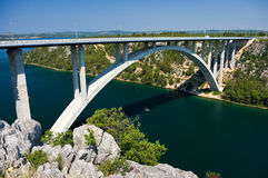 Bridge near Maslenica Royalty Free Stock Photos