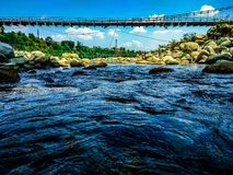 Bridge near palampur stock photo