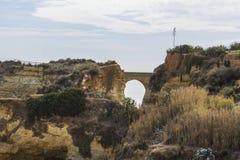 Bridge near the  Praia do Camilo in Lagos in Portugal Stock Images