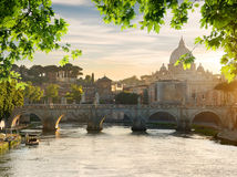 Bridge near Vatican Stock Photos