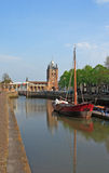 Bridge near a water channel. In Holland Stock Photos