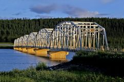 Bridge near whitehorse. Taken in the yukon Stock Photo