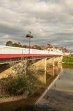 Bridge nears the river Stock Photos