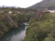 The bridge on Neretva. Fallen bridge on the river Neretva in Bosnia and Herzegovina Royalty Free Stock Photography