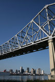 Bridge with New Orleans skyline Stock Photos