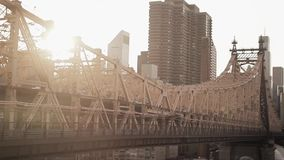 Bridge New York at sunset stock footage