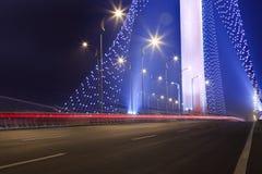 Bridge night royalty free stock photo