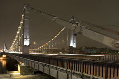 Bridge in the night Royalty Free Stock Photography