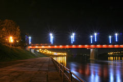 Bridge at night. Night scene - bridge at night Stock Image