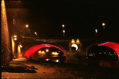 The bridge in night Royalty Free Stock Photo