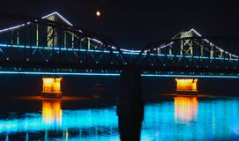 Bridge at night, Royalty Free Stock Photos