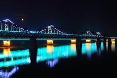 Bridge at night, Stock Photo