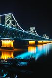 Bridge at night, Royalty Free Stock Photo