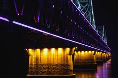 Bridge at night, Stock Image