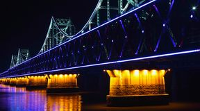 Bridge at night, Royalty Free Stock Image