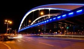 Bridge in the night Royalty Free Stock Photo
