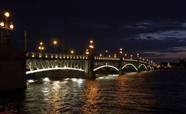 bridge night Στοκ φωτογραφία με δικαίωμα ελεύθερης χρήσης