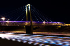 Bridge at Night. An illuminated bridge in Phoenix Arizona Stock Photo
