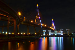 Bridge at night Royalty Free Stock Photo