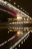 Bridge in the night Royalty Free Stock Images