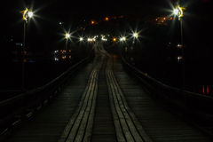 Bridge at night. Stock Photos