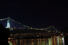 Bridge at night Stock Photos