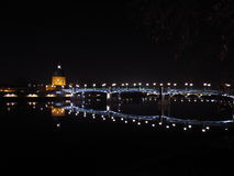 Bridge at night. Bridge in Toulouse, France, at night Stock Images