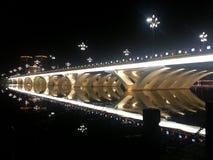 Bridge. The bridge in the night Royalty Free Stock Photos