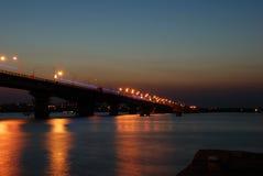 bridge night Στοκ Φωτογραφία