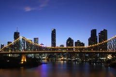 Bridge of the night royalty free stock photo