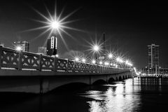 Bridge at night Stock Image