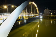 Bridge at night. In the Alps, Austria Royalty Free Stock Photography