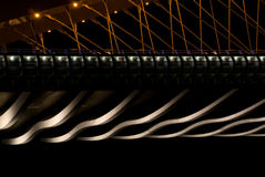 Bridge in night - details stock photo