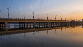 Bridge by night Stock Photo